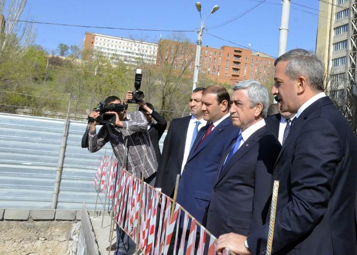 ՀՀ Նախագահը աշխատանքային այցը շինհրապարակ