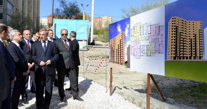 ՀՀ Նախագահը աշխատանքային այց է կատարել երիտասարդ գիտնականների համար կառուցվող համալիրների շինհրապարակ