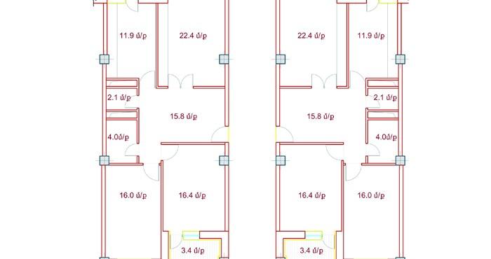 Բազմաբնակարան շենքի բնակարանների նախագծերը