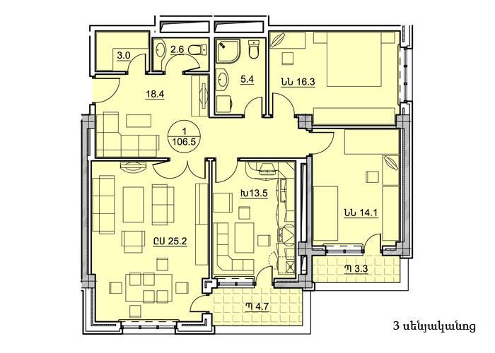 Պարույր Սևակի 8-2 հասցեում կառուցվող շենքերի բնակարանների նախնական հատակագծերը (5)