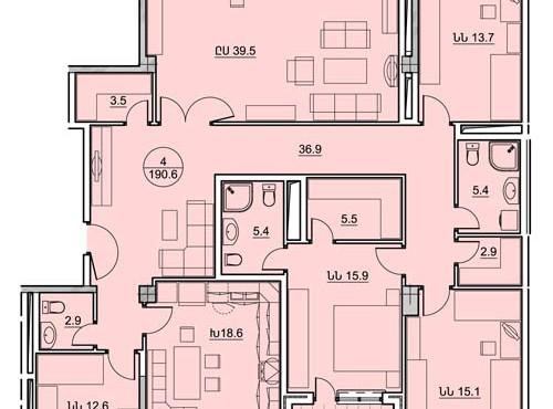 Պարույր Սևակի 8/2 հասցեում կառուցվող շենքերի բնակարանների նախնական հատակագծերը